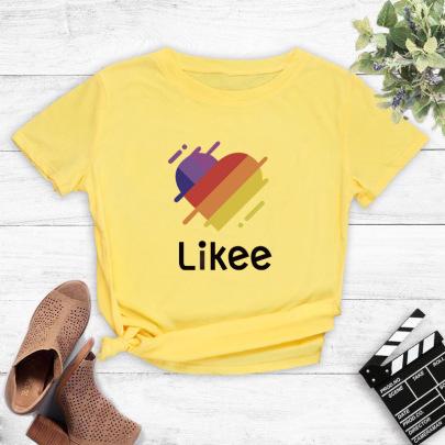 Creative Colorful Love Text Printing T-shirt  NSYIC60497