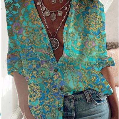 New Small Floral Shirt Long-sleeved Shirt NSYF60883