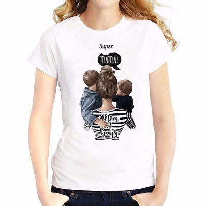 Super Mama Short-sleeved T-shirt NSATE60899