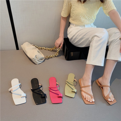Flat-heeled Toe Beach Soft-soled Shoes NSHU61103