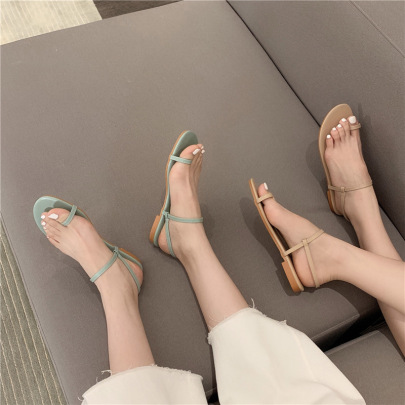 Flat Heel Soft Sole Comfortable Sandals  NSHU61105