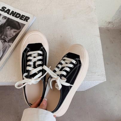 Fashion Lace-up Flat Shoes NSHU61122