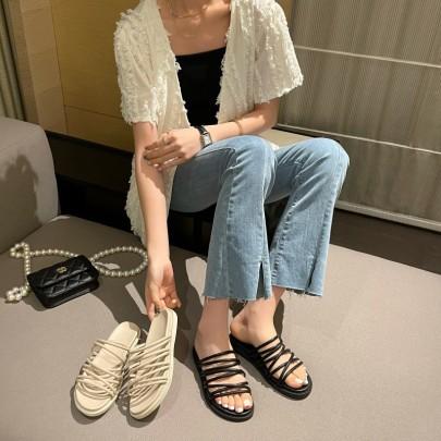 Fashion Mutiple Straps Slide Sandals NSHU61123