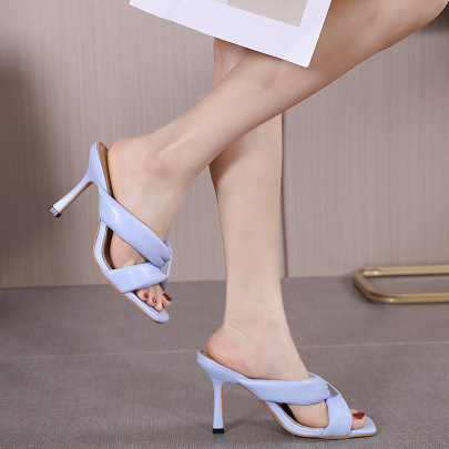 Soft Leather Open Toe Temperament Sandals NSHU61133