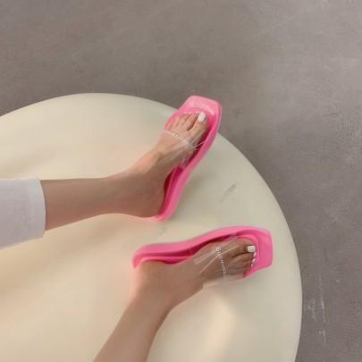 Fashion Clear Slide Sandals NSHU61137