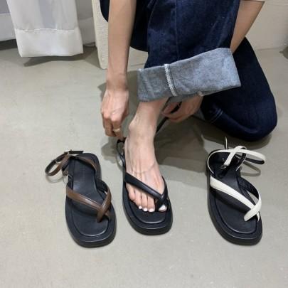 Fashion Cross Straps Thong Sandals NSHU61142