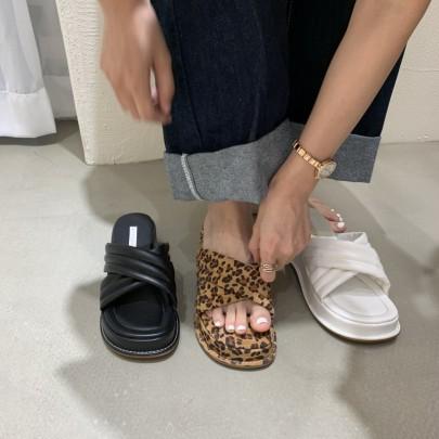 Fashion Thick Solft Botton Slide Sandals NSHU61144