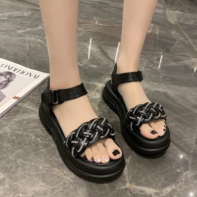 Fashion Rhinestone Woven Beach Sandals NSZSC61147