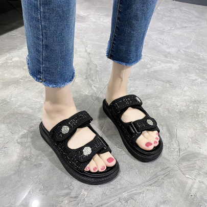 New Velcro  Thick-soled Flat Shoes NSZSC61152