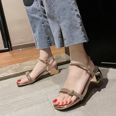 Fashion Rhinestone Decor Sandals NSZSC61156