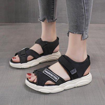 Velcro Bear Platform Comfortable Roman Shoes  NSZSC61160