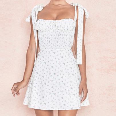 Sling Print Slim Slimming Dress NSYIS61267