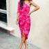 slit slanted shoulder sleeveless printed dress NSYIS61266