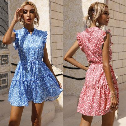 Summer New Waist Small Floral Skirt Dress NSJC61198