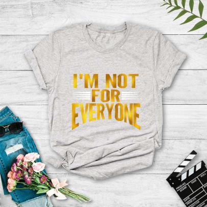 Letter Print Short-sleeved T-shirt  NSYAY61993
