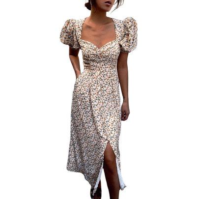Summer New Small Floral Split Dress NSJIM61172