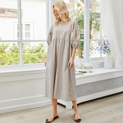Autumn Solid Color High Waist Loose Mid-length Skirt NSLM61236