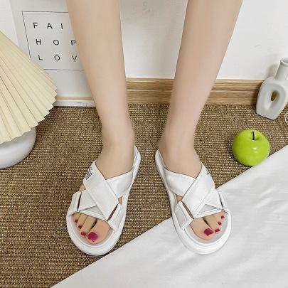 Cross Belt Velcro Thick-soled Sandals NSZSC61328