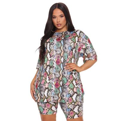 Plus Size Butterfly Print Fashion Set NSYMA61420
