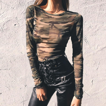 Camouflage Long-sleeved T-shirt  NSHTL61538