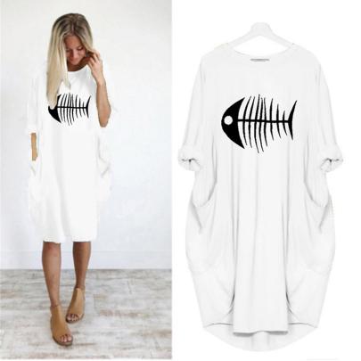 New Printed Long Sleeve Casual Dress NSJIN61936