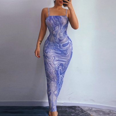 Summer New Style Printed Sexy Sling Dress NSFLY61768