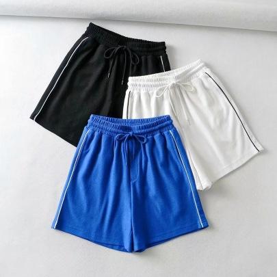 Summer New Fashion Elastic Waist Casual Sports Slimming Shorts NSHS61805