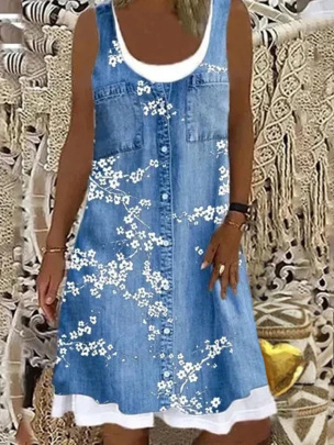 Loose Fashion Digital Printing Casual Dress NSBTY61834