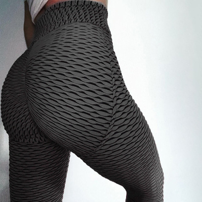New Two-color Fabric Sports Yoga Tights NSFLY61925