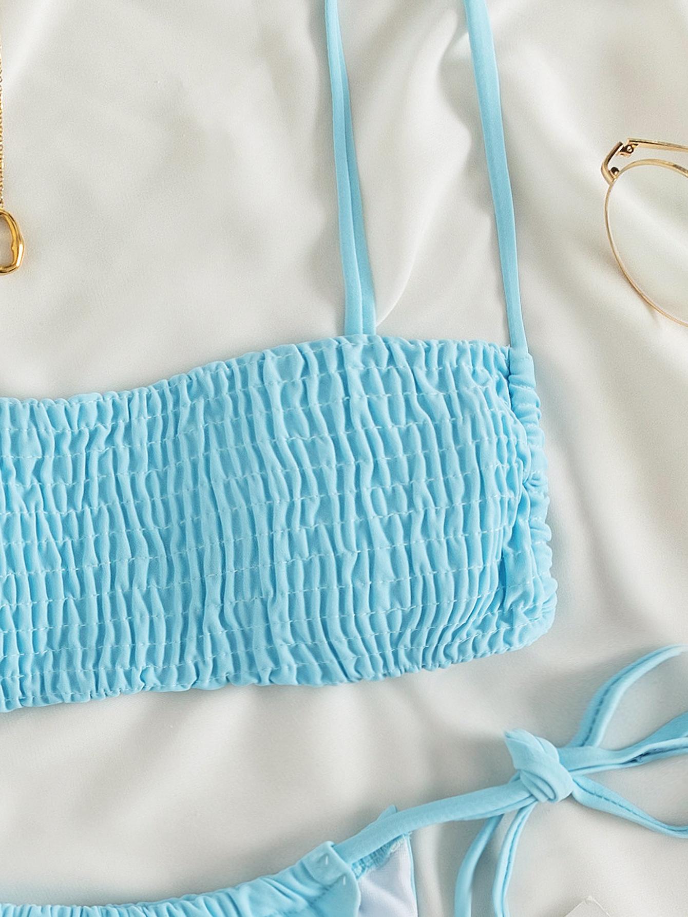 Pure color sexy cable split bikini wholesale women's clothing Nihaostyles NSLUT67764