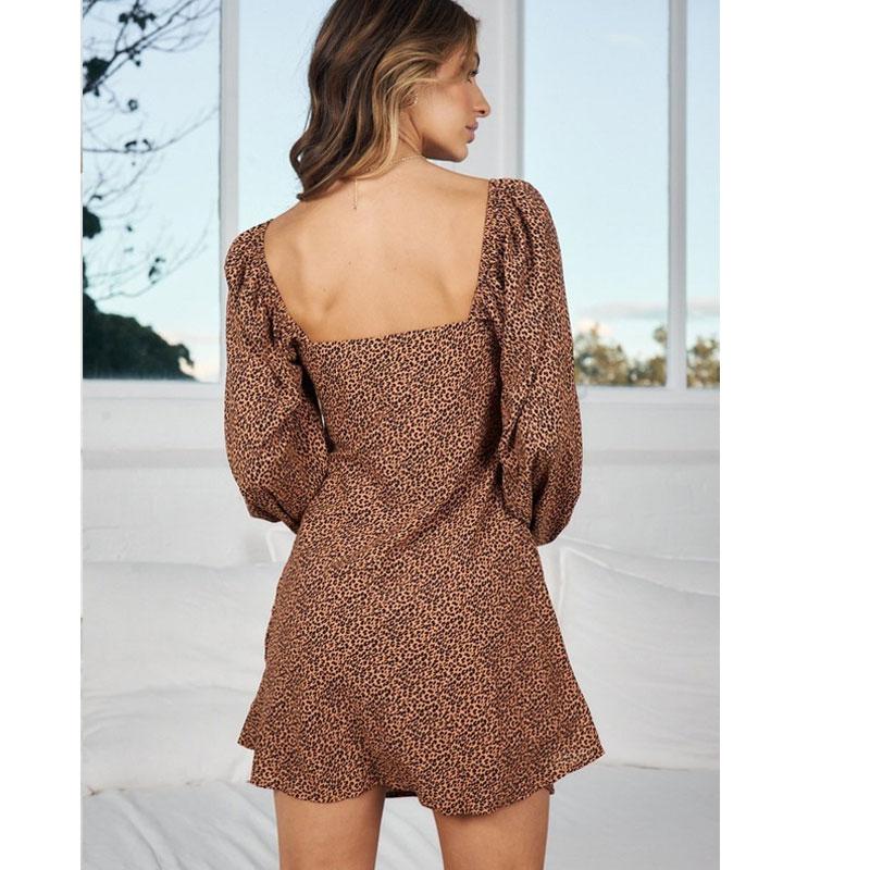 new long-sleeved leopard print dress nihaostyle clothing wholesale NSJC68970