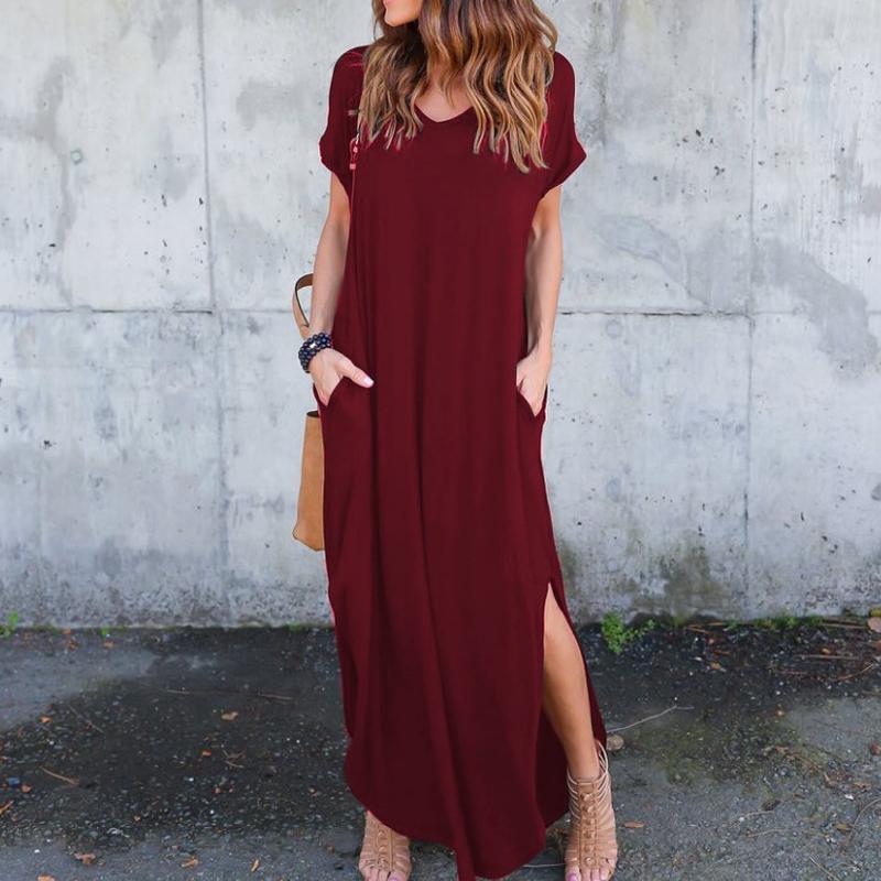 loose pocket dress nihaostyle clothing wholesale NSYID69197