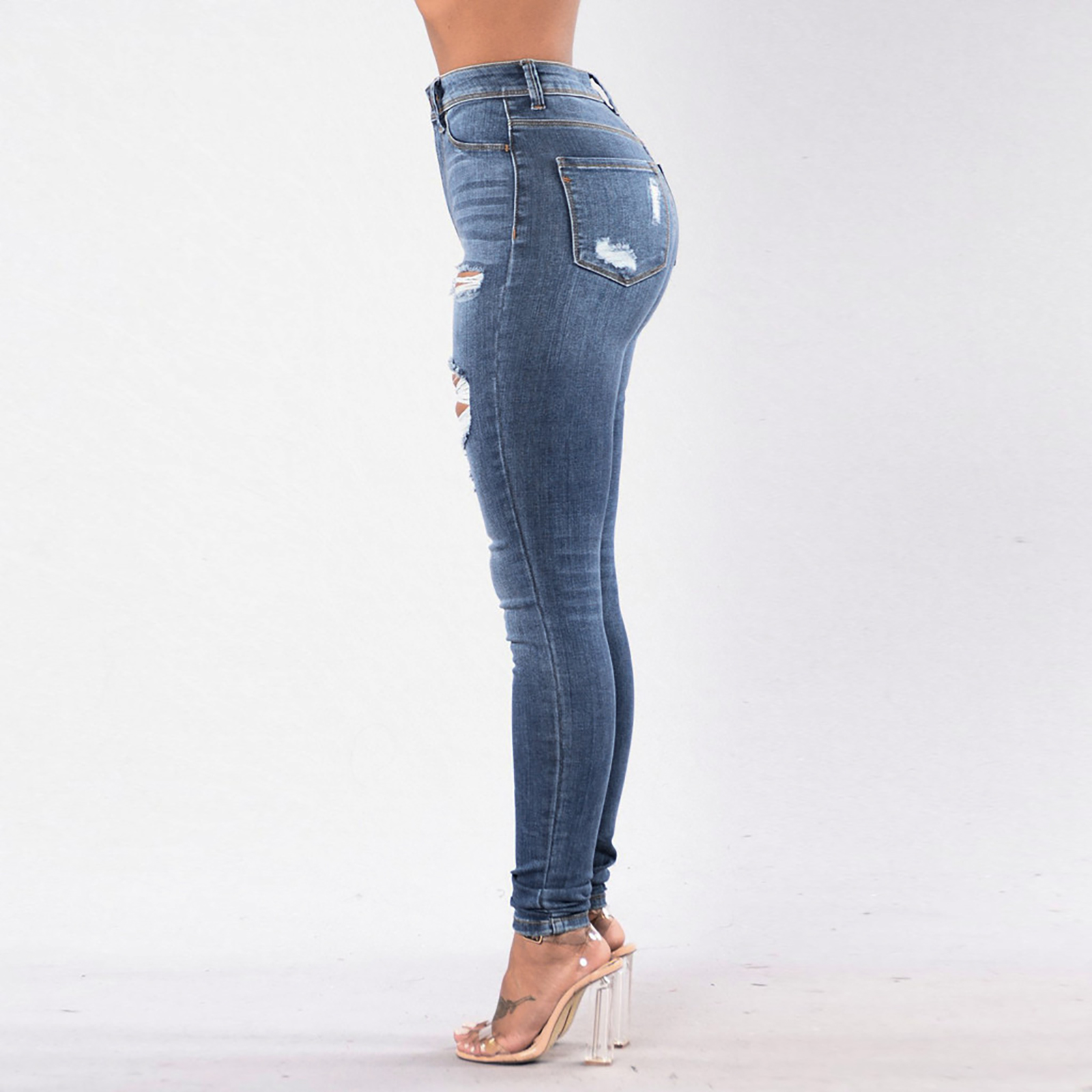 women s hollow jeans nihaostyles clothing wholesale NSOUY73803