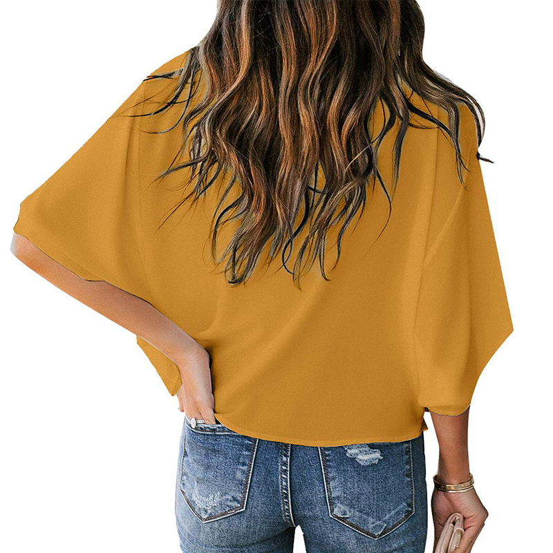 loose v-neck casual tops Nihaostyles wholesale clothing vendor NSOUY72702