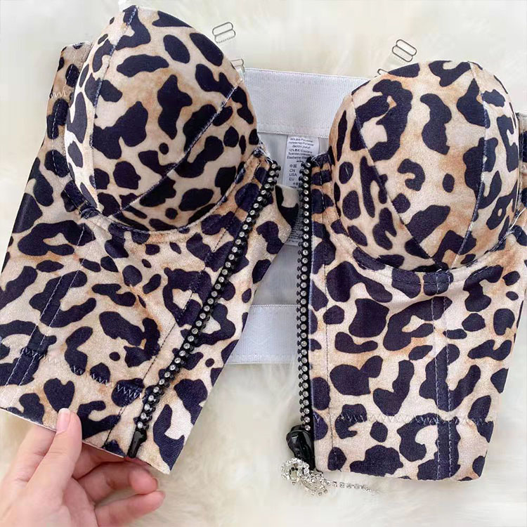 leopard tube top Transparent straps vest nihaostyles wholesale clothing NSXIA83214