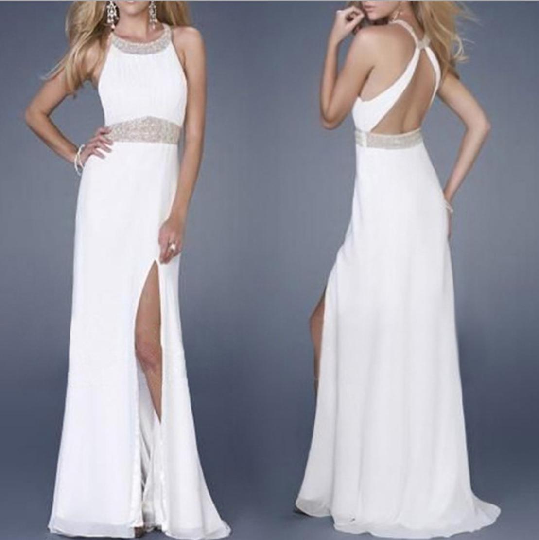 round neck high waist halterneck backless milk silk wedding evening dress nihaostyles wholesale clothing NSYIS83189